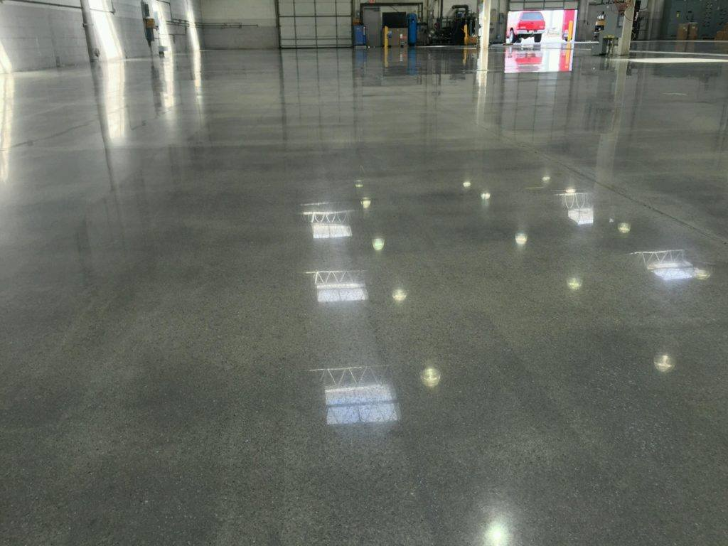 This is a picture of a polished concrete.